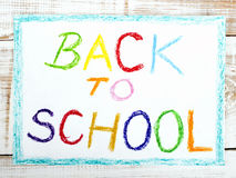Words BACK TO SCHOOL Stock Photo