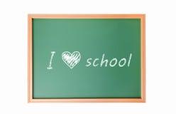 The words 'Back to School' written in chalk school Stock Photo