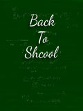 The words Back to School written on a green blackboard Royalty Free Stock Image