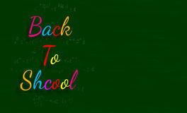 The words Back to School written on a green blackboard Stock Images