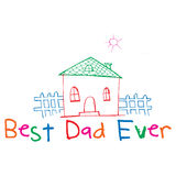 Words best dad ever message. Best dad ever message in colourful letters Stock Images