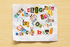 Words  BLOG from various letters Royalty Free Stock Photo