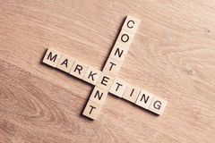 Conceptual business keywords on table with elements of game maki Royalty Free Stock Photo