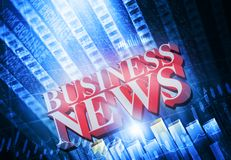 Words Business News. On digital background Royalty Free Stock Images