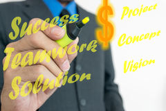 Words of business plan for success. Royalty Free Stock Photos