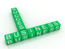 Words business and success Royalty Free Stock Image