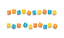 Words California Los Angeles Royalty Free Stock Images