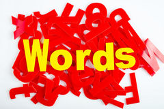 Words close-up Stock Images