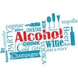 Words cloud - alcohol Royalty Free Stock Photos