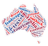 Words Cloud of Australia Royalty Free Stock Photography