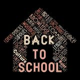 The Words cloud of the Back to school. Illustration to  The Words cloud of the Back to school as background Royalty Free Stock Image