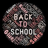 The words cloud of the back to school. Illustration to The words cloud of the back to school as background Royalty Free Stock Photo