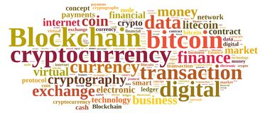 Words cloud with Blockchain Stock Images