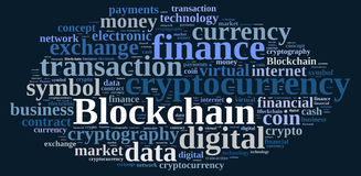 Words cloud with Blockchain. Stock Photos