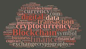 Words cloud with Blockchain. Stock Images