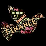Words cloud of the FINANCE. Illustration to Words cloud of the FINANCE as background Stock Images