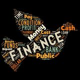 Words cloud of the FINANCE. Illustration to Words cloud of the FINANCE as background Royalty Free Stock Photo