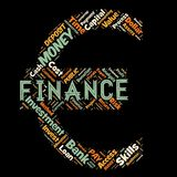 Words cloud of the FINANCE. Illustration to Words cloud of the FINANCE as background Royalty Free Stock Photography