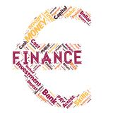 Words cloud of the FINANCE. Illustration to Words cloud of the FINANCE as background Royalty Free Stock Photos