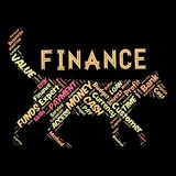Words cloud of the FINANCE. Illustration to Words cloud of the FINANCE as background Royalty Free Stock Image