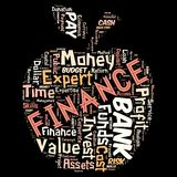 Words cloud of the FINANCE. Illustration to Words cloud of the FINANCE as background Stock Image