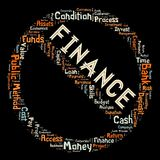 Words cloud of the FINANCE. Illustration to Words cloud of the FINANCE as background Stock Photography