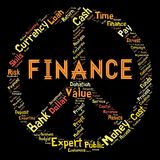 Words cloud of the FINANCE. Illustration to Words cloud of the FINANCE as background Stock Photos
