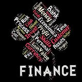 Words cloud of the FINANCE. Illustration to Words cloud of the FINANCE as background Stock Photo