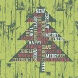 Words_composition del árbol de Navidad. Imagenes de archivo