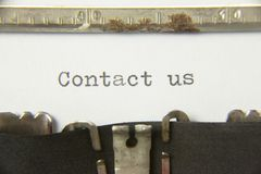 Typewriter contact us Stock Photography