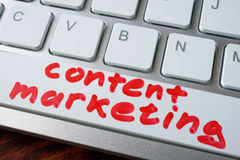 Words content marketing. Stock Photos