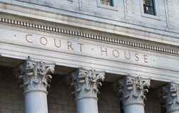 The words Court House Royalty Free Stock Photo