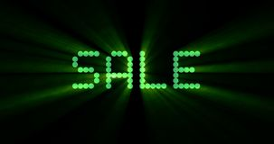The words cyber monday sale, are you ready question, appearing with computer digital dot green matrix font, on black background stock video footage