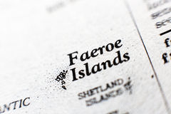 The words Faeroe Islands in the dictionary Royalty Free Stock Photos