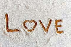 Words in flour Royalty Free Stock Images