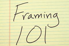 Framing 101 On A Yellow Legal Pad Stock Image