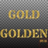 The words `GOLD` and `GOLDEN` Stock Photography