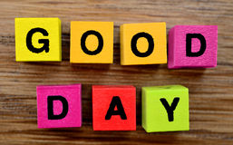 The words Good Day on table Royalty Free Stock Photography