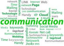 Communication cloud Stock Photography