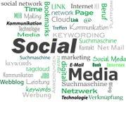 Social media cloud Stock Photography
