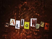 words - halloween Stock Image
