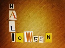 words - halloween Stock Photo