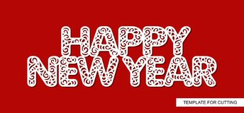 Words Happy New Year. Lace inscription. royalty free illustration