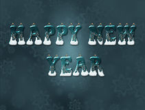 Words happy new year Royalty Free Stock Photo