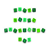 Words Happy Saint Patricks Day Royalty Free Stock Photos