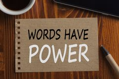 Words Have Power Concept royalty free stock images