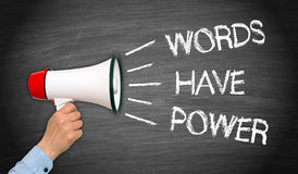 Words have Power Megaphone with text Royalty Free Stock Photography