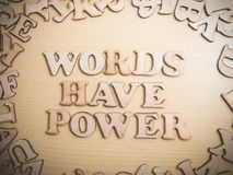 Words Have Power, Motivational Words Quotes Concept stock image