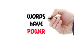 Words have power text concept royalty free stock photo