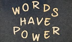 Words have power on wooden words blocks. Photo stock photo